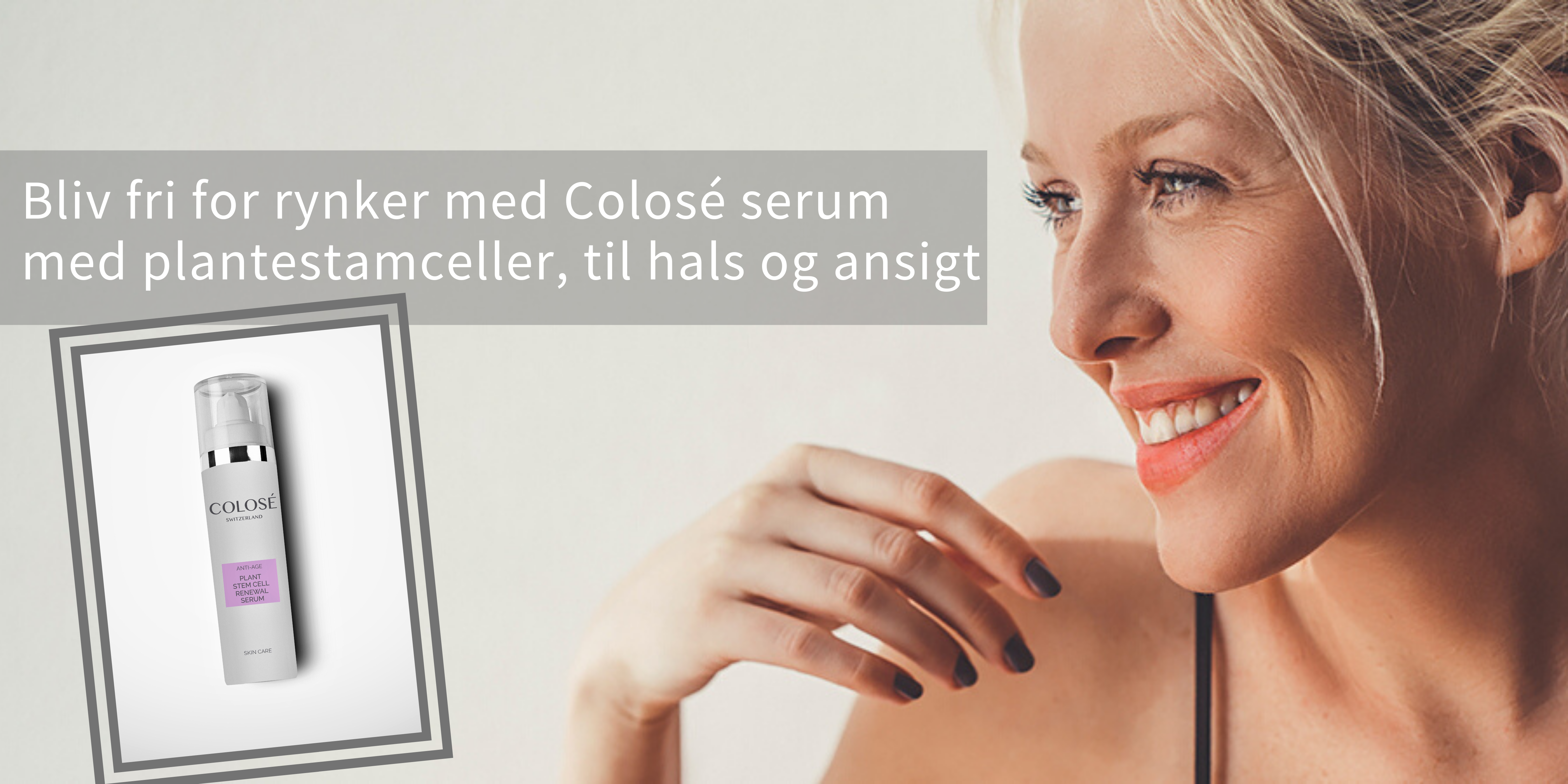 Serum med plantestamceller - til hals og ansigt - hurtig virkning