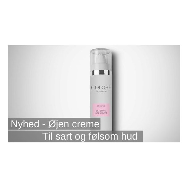 Sensitive eye cream, øjen crème til følsom hud